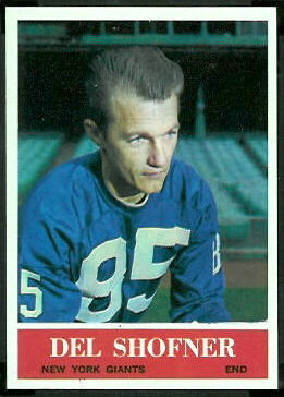 Del Shofner 1964 Philadelphia football card