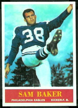 Sam Baker 1964 Philadelphia football card
