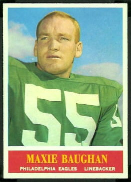 Maxie Baughan 1964 Philadelphia football card