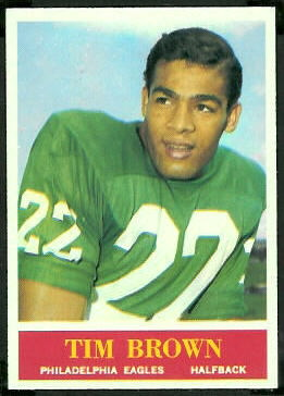 Timmy Brown 1964 Philadelphia football card