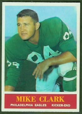 Mike Clark 1964 Philadelphia football card