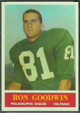 Ron Goodwin 1964 Philadelphia football card