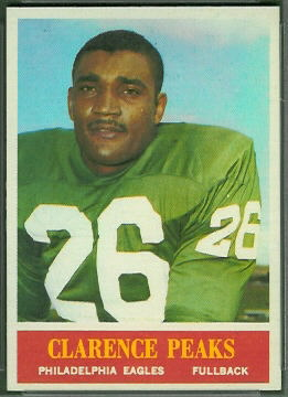 Clarence Peaks 1964 Philadelphia football card