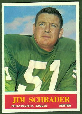 Jim Schrader 1964 Philadelphia football card