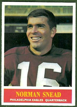 Norm Snead 1964 Philadelphia football card