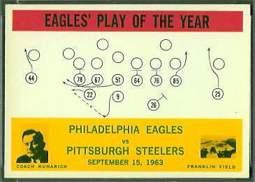 Eagles Play of the Year 1964 Philadelphia football card