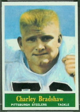 Charlie Bradshaw 1964 Philadelphia football card