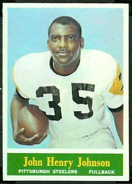 John Henry Johnson 1964 Philadelphia football card