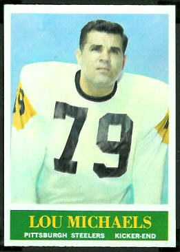 Lou Michaels 1964 Philadelphia football card