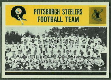 Pittsburgh Steelers Team 1964 Philadelphia football card