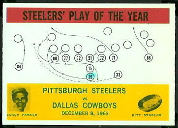 Steelers Play of the Year 1964 Philadelphia football card