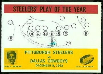 Steelers Play of the Year 1964 Philadelphia football card