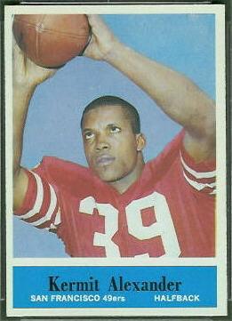 Kermit Alexander 1964 Philadelphia football card