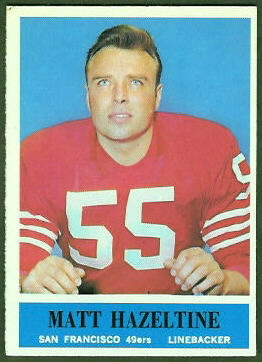 Matt Hazeltine 1964 Philadelphia football card