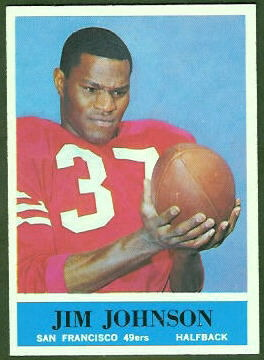 Jim Johnson 1964 Philadelphia football card