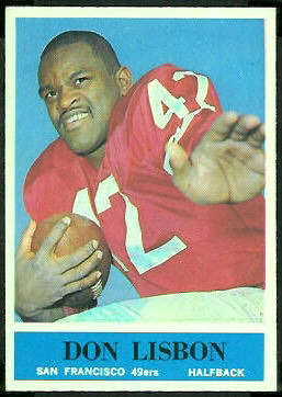 Don Lisbon 1964 Philadelphia football card