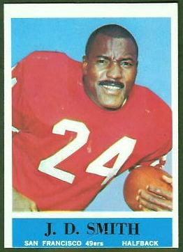 J.D. Smith 1964 Philadelphia football card