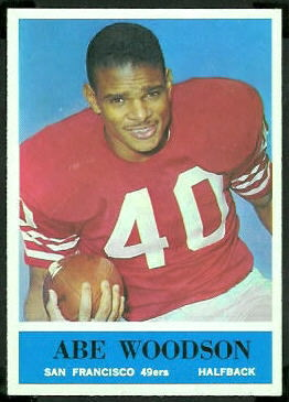 Abe Woodson 1964 Philadelphia football card