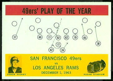 49ers Play of the Year 1964 Philadelphia football card