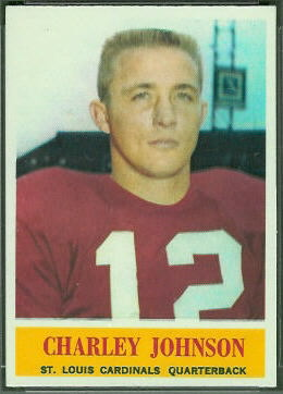 Charley Johnson 1964 Philadelphia football card