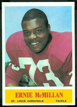 Ernie McMillan 1964 Philadelphia football card
