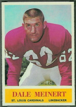 Dale Meinert 1964 Philadelphia football card