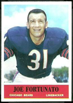 Joe Fortunato 1964 Philadelphia football card