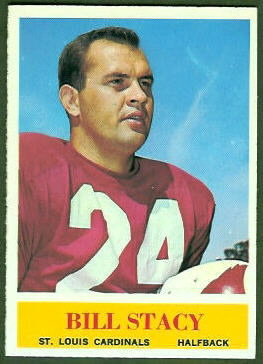 Bill Stacy 1964 Philadelphia football card