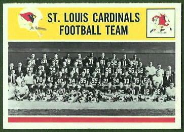 St. Louis Cardinals Team 1964 Philadelphia football card