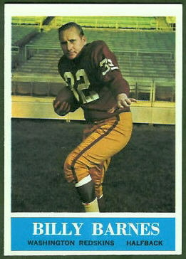 Bill Barnes 1964 Philadelphia football card