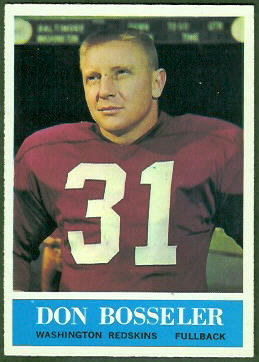 Don Bosseler 1964 Philadelphia football card