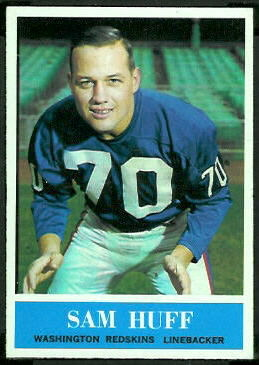 Sam Huff 1964 Philadelphia football card