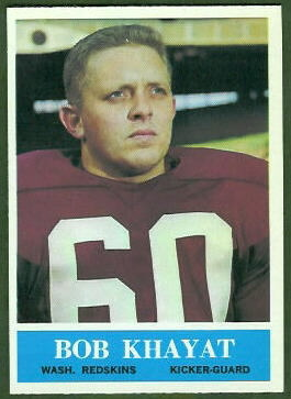 Bob Khayat 1964 Philadelphia football card