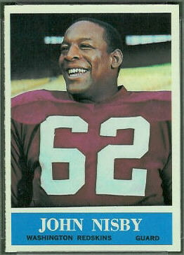 John Nisby 1964 Philadelphia football card