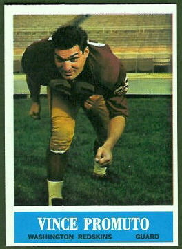 Vince Promuto 1964 Philadelphia football card