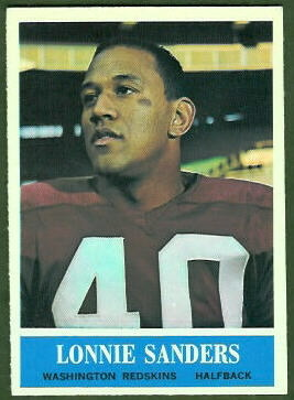 Lonnie Sanders 1964 Philadelphia football card