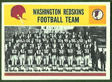 Washington Redskins Team 1964 Philadelphia football card