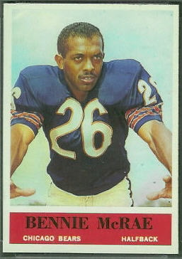 Bennie McRae 1964 Philadelphia football card