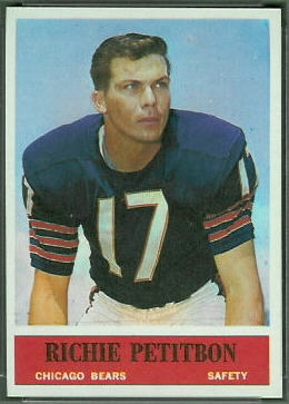 Richie Petitbon 1964 Philadelphia football card