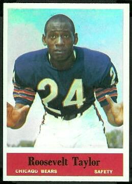 Roosevelt Taylor 1964 Philadelphia football card