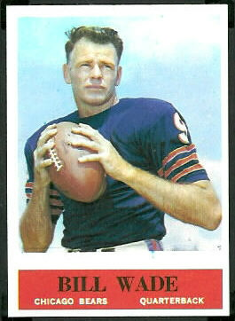 Bill Wade 1964 Philadelphia football card