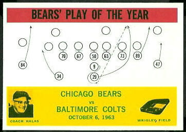 Bears Play of the Year 1964 Philadelphia football card