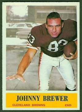 John Brewer 1964 Philadelphia football card