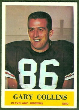 Gary Collins 1964 Philadelphia football card