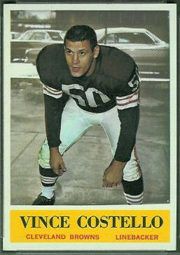 Vince Costello 1964 Philadelphia football card