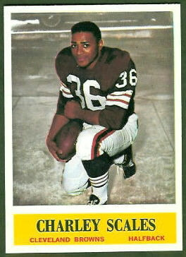 Charley Scales 1964 Philadelphia football card