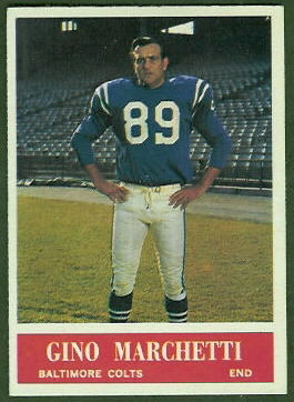 Gino Marchetti 1964 Philadelphia football card