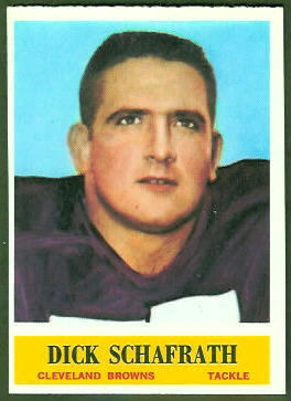 Dick Schafrath 1964 Philadelphia football card