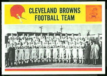 Cleveland Browns Team 1964 Philadelphia football card