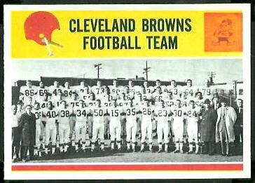 Cleveland Browns Team 1964 Philadelphia football card